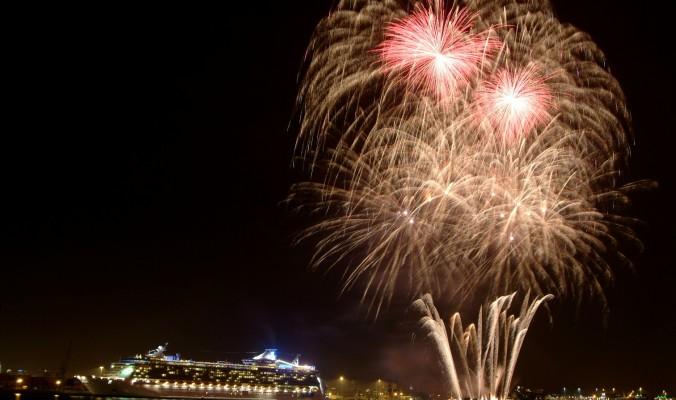 Liberty of the Seas – Pyromusical Display